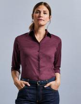 Ladies` 3/4 Sleeve Fitted Shirt